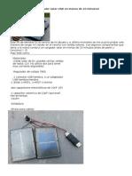 Cargador Solar USB