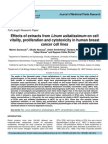 Cytotoxicity on Cancer Cells