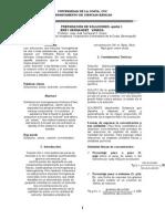 informe de laboratorio soluciones