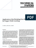 Application of the Shrinking Core Model for Copper Oxide Leaching