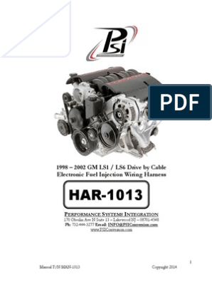 HAR-1013 LS1 Harness Instructions 3 | Propulsion | Automotive