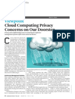 Articulo de Interés !!! Cloud Privacy