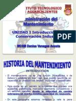 Unidad I Introduccion a La Conservacion Del Mantenimiento