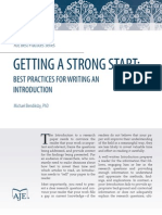 PDF - Getting a Strong Start - Best Practices for Writing an Introduction