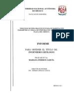 PROCESOS DE EXPLORACIÓN EN ETAPA DE BARRENACIÓN PARAMÉTRICA Y MALLA DE PERFORACIÓN