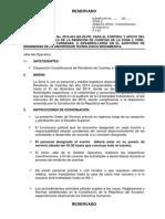 Orden de Servicio de Rendición de Cuentas de la Zona 3 2014 P. N.