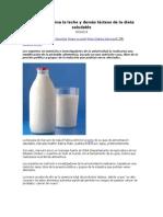 Harvard Elimina La Leche y Demás Lácteos de La Dieta Saludable