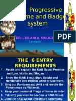 KAB Scout Advancement Scheme