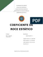 Coeficiente de Roce