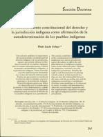 Reconocimiento Constitucional Del Derecho y La Juridisccion Indigena