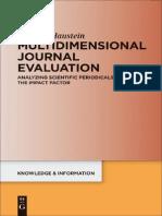 Chapter 1 Multidimensional Journal