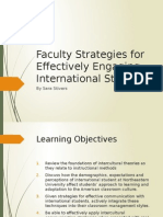 Faculty Strategies for Effectively Engaging International Students