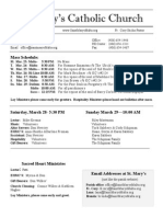 Bulletin for March 22, 2015