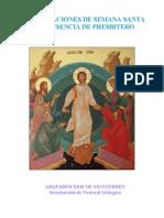 Monterrey, Archidiocesis - Celebraciones de Semana Santa en Ausencia Del Presbitero