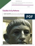 Claudian Army Reforms - Livius
