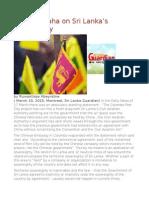 The Brouhaha on Sri Lanka's Sovereignty
