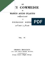 Marco Accio Plauto - Le Venti Commedie Vol. 4