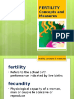 FERTILITY Concepts and Measures