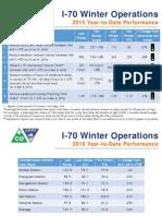 I-70 Winter Operations Performance 3-11-2015