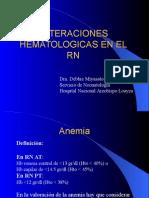 ALTERACIONES HEMATOLOGICAS EN EL RN.ppt