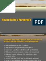 ileri Ingilizce - Write Paragraph