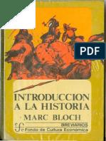Bloch Marc Introduccion a La Historia