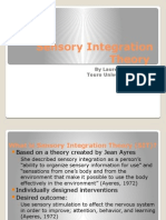 sensory integration theory- inservice