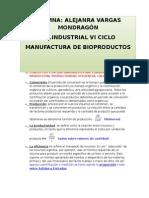 Informe de Manufactura de Bioproductos