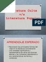 ppt de literatura culta y polpular