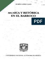 Música y Retórica en Le Barroco