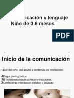 Comunicación y Lenguaje Niño de 0-6 Meses