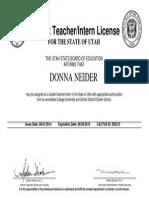 student teaching license