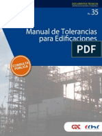manual de tolerancias para edificación 2014