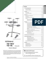Roland TD-1K manual