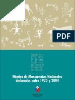 Nómina de Monumentos Nacionales Declarados Entre 1925 y 2004. (2005)