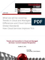 Trends and Innovations in Cloud and Managed Services