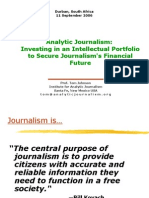 Analytic Journalism Investing in an Intellectual Portfolio to Secure Journalisms Financial Future 16678