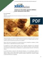 La inversión extranjera en Ecuador generó $106,5 millones en el primer bimestre del 2014 _ ElCiudadano.gob