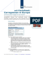 EU demand of carrageenan