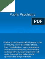 Public Psychiatry