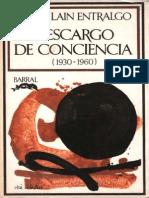 Laín Entralgo Descargo de Conciencia 1930 1960
