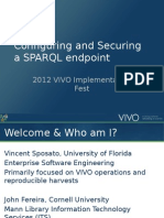 Configuring and Securing a SPARQL Endpoint