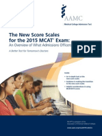 MCAT 2015 Score Scale Guide