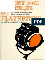 Theory and Technique of Playwriting - John Howard Lawson