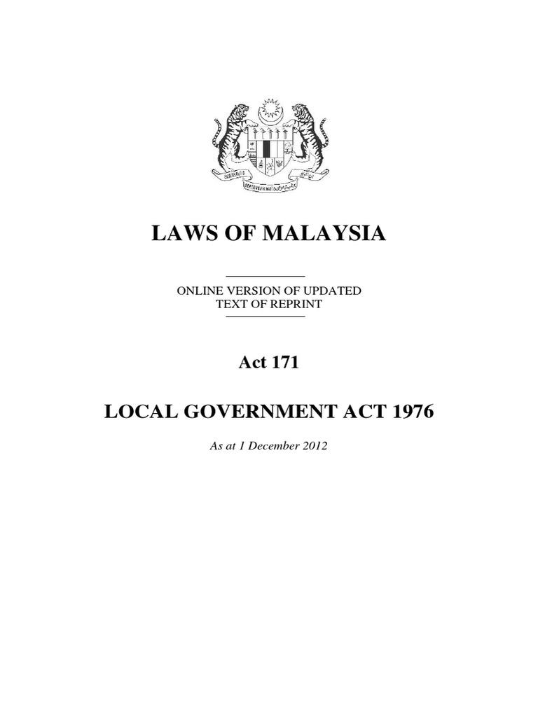 Act 171 Local Government Act 1976 Local Government Loans