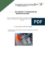 Reporte de Limpieza y Orden en El Area de Trabajo