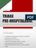 Triage Pre- Hospitalario