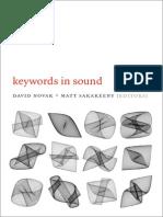 Intro Keywords in Sound Edited by Novak and Sakakeeny