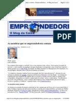 2009-08-20 - As Mentiras Que Os Empreendedores Contam