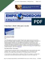 2009-08-21 - Como Fazer o Cliente Voltar Para o Seu Site